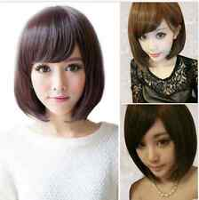 Lady Fashion Short Straight Womens Bobo Hair Full Wigs Cosplay Party Natural Wig