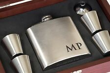 Personalized Steel Flask - Custom Engraved Gift For Groomsmen, Optional Gift Box