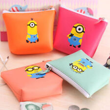 NEW DESPICABLE ME MINION Zip Coin Purse childrens 4 designs party bags lyo-133