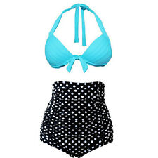 High Waist Push-Up Padded Bra Sexy Women Bikini Set Swimsuit Swimwear Beachwear