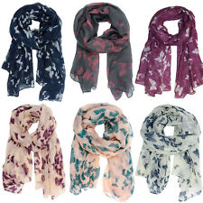 Soft Long Neck Butterfly Print Voile Wrap Shawl Pashmina Stole Scarf New Hot