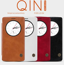 Nillkin Qin Series New Wake/Sleep Smart View Flip Leather Case Cover For LG G4