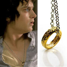 HOT LORD OF THE RINGS ONE RING TO RULE THEM ALL NECKLACE PENDANT CHAIN HOBBIT