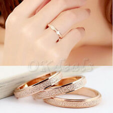 NEW Charming Band Gold Silver Stainless Steel Women Lady Ring 5-9 Jewelry Gifts