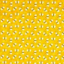 Bumble Bee Fabric By the Yard Bees Black Yellow Buzz Spring Summer Fabric w8/31