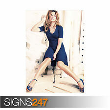 CHERYL COLE BLUE DRESS (1170)  Photo Picture Poster Print Art A0 A1 A2 A3 A4
