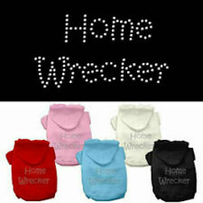 Dog Hoodies - HOME WRECKER Rhinestone - Poly/Cotton *Many Sizes and Colors*