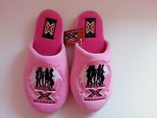 ***GIRLS THE X FACTOR PINK SLIPPERS UK SIZE 13/1 AND 2/3 ***