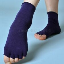 3 Pairs Half Toe Ankle Grip Yoga Dance Pilates Socks Five Finger 5 Toe Non Slip