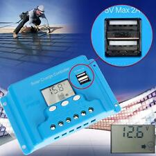 10/20/30A LCD Solar Battery Regulator PWM Charge Discharge Controller 12V 24V DA