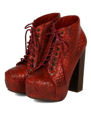 Vintage Francheska-06 New Women Woven Leatherette Chunky Heel Ankle Bootie