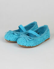 Jelly Beans Masara New Girl Crochet Bow Decor Round Toe Mary Jane Ballet Flat