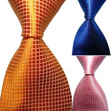 Hot! Plain Classic New Silk Jacquard Woven Necktie Men Checks Party Neck Tie New