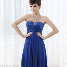 Sexy Lace-up Long Chiffon Dress Formal Party Ball Gown Prom Bridesmaid Dress