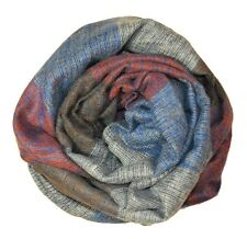 Chicastic Soft Wool Blend Oblong Stripe Colorblock Neck Scarf Shawl Wrap