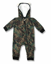 Camo Baby Romper | Six Bunnies NB-24mths | Camouflage Punk Skull Tattoo Onesie