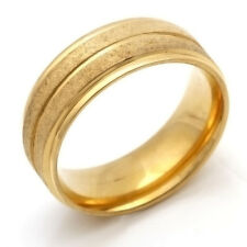 Stainless Steel Ring Only Gold Mens Womens Band Ring Size 7 8 9 10 11