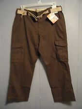 New Men's Lee Premium Washed Khakis Cargo relaxed fit brown pants pick size NWT