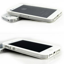 Black/White Hyline Clear TPU Bumper Frame Case For Apple iPhone 5S 5
