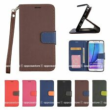 Wallet Leather Flip Stand with Strap Case Cover for Samsung Galaxy Note5