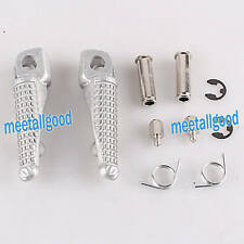 Rider Front Foot Pegs Footrests Footpegs Set fit KAWASAKI Z1000 2007-2013 Silver
