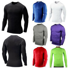 Mens Compression Base Layer Tight Tops Shirt Under Skin Thermal Tee Sports Gear
