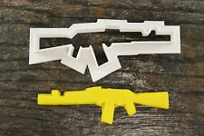 AK47 Gun Shape Cookie Cutter, 3D Printed