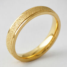 Fashion Classic Unisex Yellow Gold Filled Band Promise Love Band Ring Size 8-11