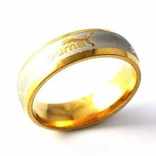 Y Type Gold Filled/Silver Unisex Band Promise Love Band Ring Size 8,910,12,13