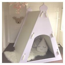 NEW WOODEN PRINCESS CUBBY HOUSE TEE PEE TENT (UNPAINTED) AUSTRALIAN MADE!!
