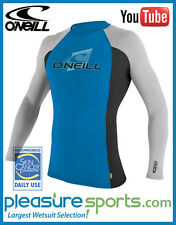 O'Neill Men's Skins Rashguard Long Sleeve Crew 50+ UV PROTECTION Rash Guard