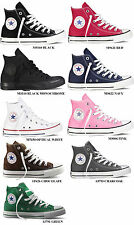 CONVERSE ALL STAR CHUCK TAYLOR HI Black White Red Navy Chocolate  CANVAS MEN