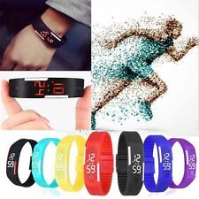 Mens Womens Watches Rubber LED Watch Date Sports Bracelet Digital Wrist Watch DA