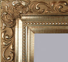 "PICTURE FRAME WOOD CHAMPAGNE SILVER ORNATE WEDDING SWIRL 4.25"" WIDE BEAUTIFUL"