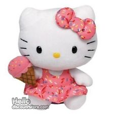 TY Sanrio Hello Kitty  Beanie Babies Stuffed Plush Toy :  Ice Cream