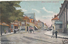 Horse and cart Bank street Ashford, Kent Miller & Jarvis Postcard