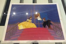 DISNEY BEAUTY AND THE BEAST LIMITED EDITION SERICEL WITH COA ANIMATION ART