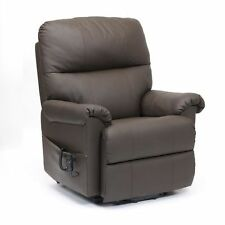 Restwell Borg leather riser recliner electric mobility chair rise and lift