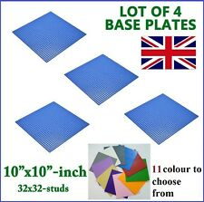 4 x Large 32x32 Studs (SS) 25.5cm sq BASE PLATE Compatible Construction Blocks