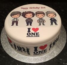 1D One Direction Cartoon Edible Icing Topper &/Or Ribbon for Birthday Cake 04