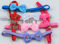 New Girls Kids Baby Small Bow Hair Bands Elastic Hairband Bobbles Fabric