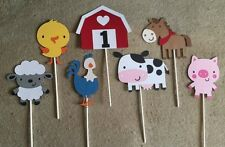 Barn Yard Centerpieces.Birthday,BabyShower.Pig,Cow,Horse,Barn,Lamb,Chick,Rooster