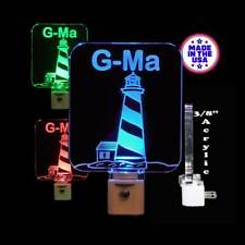 "Personalized Light House LED Night Light - Nautical Lamp 3/8"" Acrylic"
