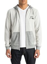 Quiksilver Storm Rev Mens Zipped Hoody in Grey - On Sale Now