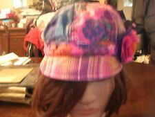 pre-owned Claire's  Multicolored Visored Hat - flower accents - Size S/M