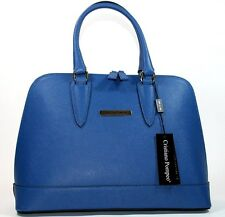 Cristiano Pompeo Italy handbag purse style alma saffiano leather electric blue
