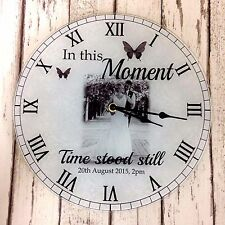 Personalised Wedding Gift - Photo Clock / Upload Your Photo / Change the Text