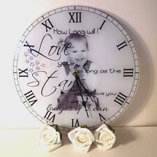 Personalised Gift - Child Photo Clock / Upload Your Photo / Change The Text