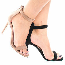Swagger02 Classic High Heel Strappy Zipper Ankle Strap Sandal, Women Shoes