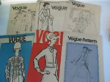 VOGUE Choice of OOP Misses Vintage Fashion 1970-1980s Sewing Patterns $6.99 ea